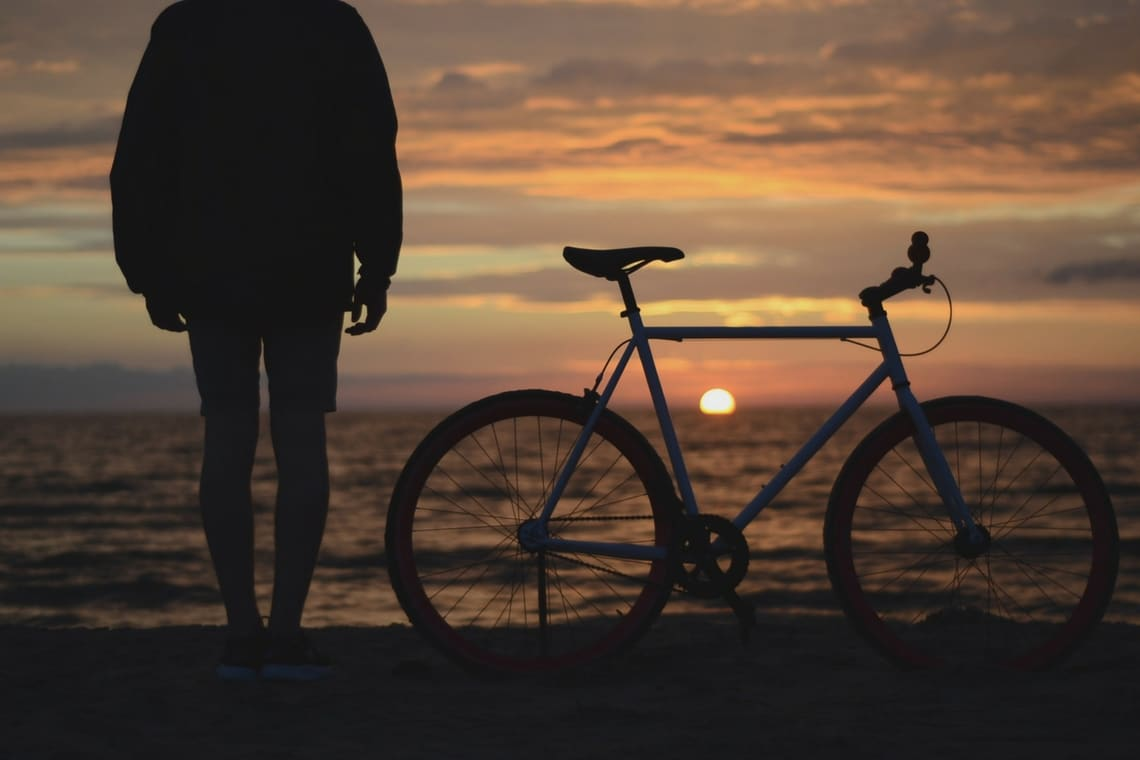 Bike on Beach Sunset