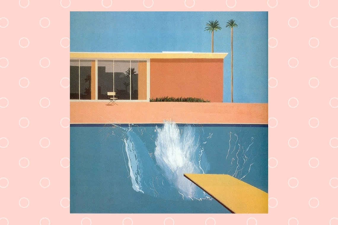 hockney pool splash