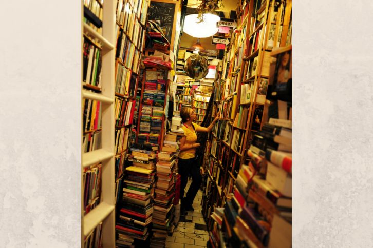 Travel, book store, drinking, quotes