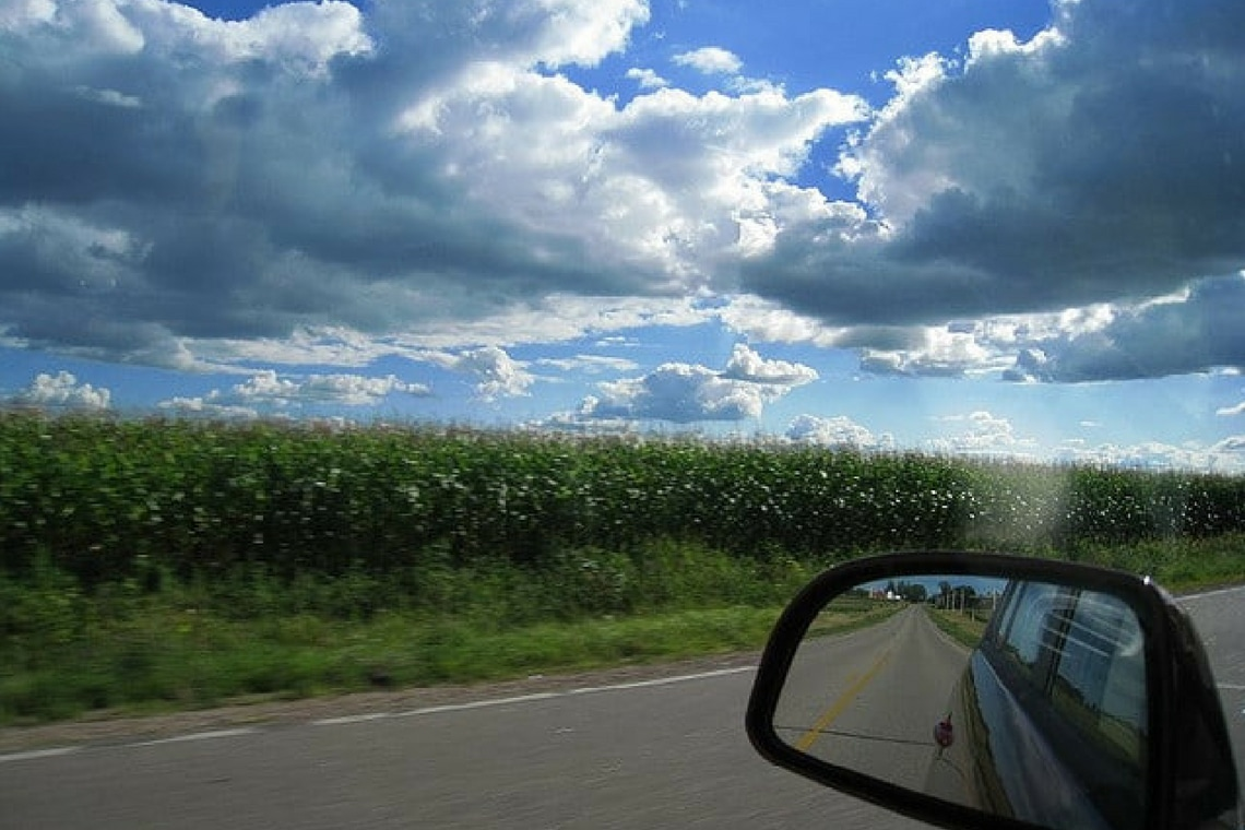 Beautiful Scenery From Car Window