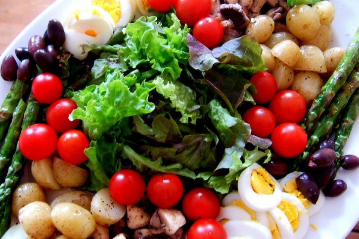 Eating Salad mind and body