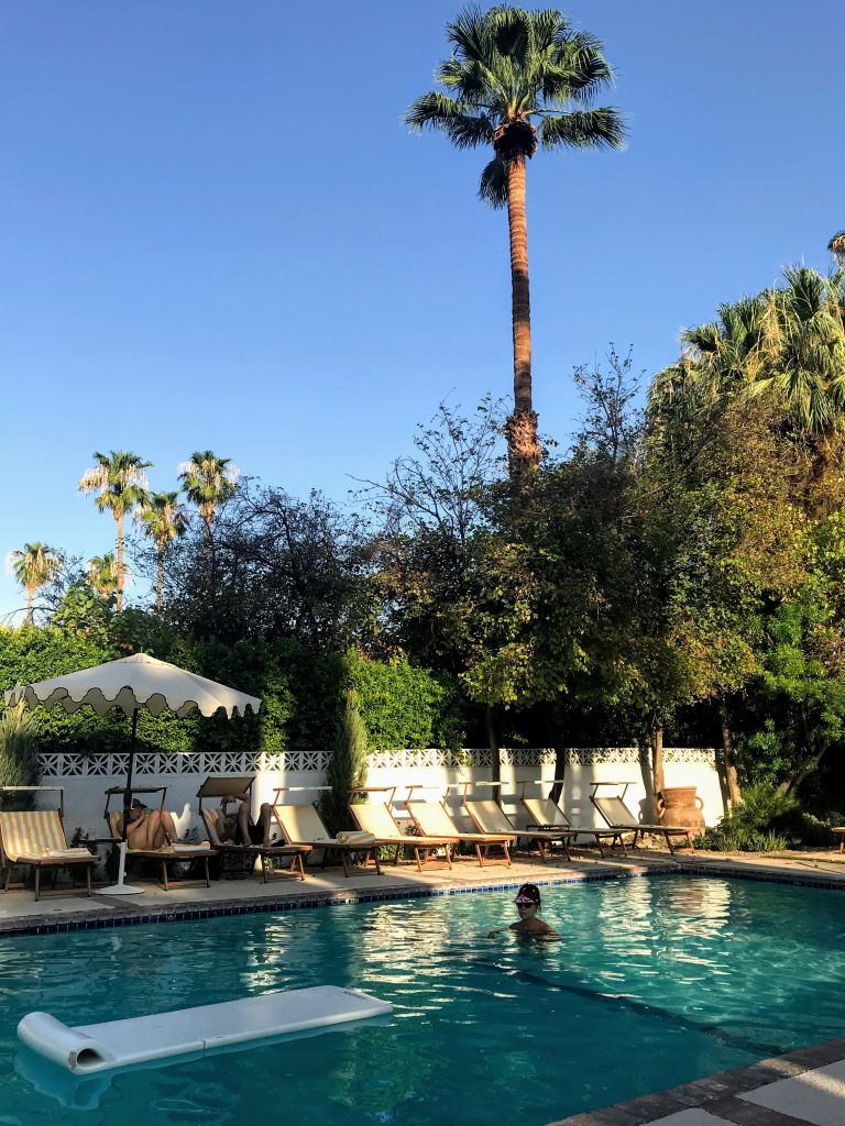 Palm Springs Pool Side Evening