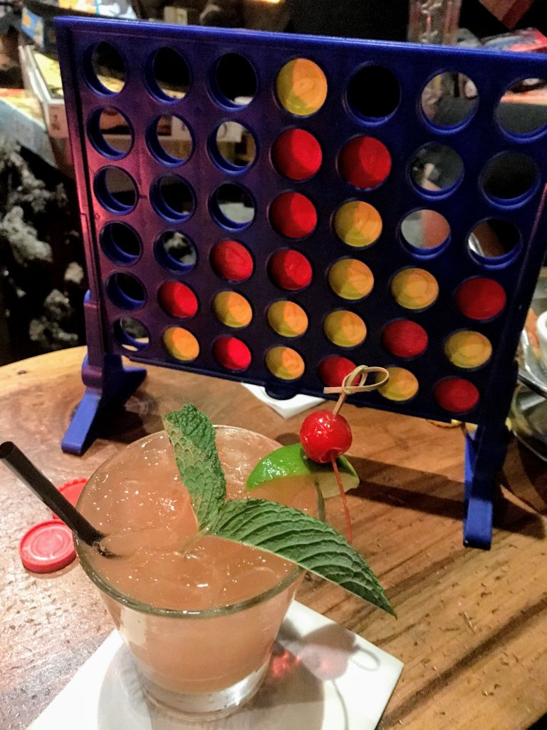 Drinks and Connect Four at Tonga Hut