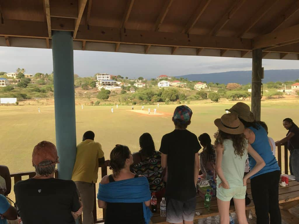 Watching Cricket Game